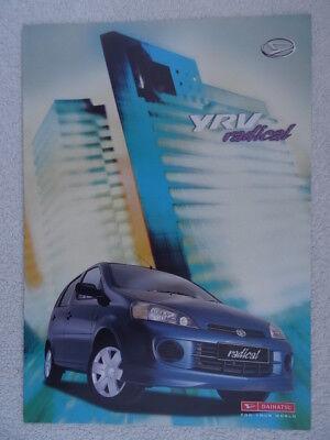 Daihatsu YRV Radical and Radical 2 brochure 2001
