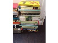 Assorted literary texts, including classic fiction and books about writing