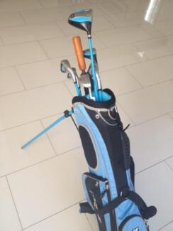 Boys blue PGF golf clubs suitable for 10 to 12 yr old Benowa Gold Coast City Preview