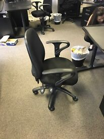10x black office chairs