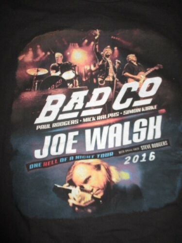 2016 BAD COMPANY Paul Rodgers Ralphs Kirke JOE WALSH Concert Tour (LG) Shirt