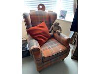 Next Sherlock Armchair With Light wooden Legs