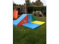 Soft play toys, would suit prof space/large home, good as new,about 10 pieces to make up play area.