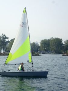 RS Feva one or two person sailboat sailing dinghy