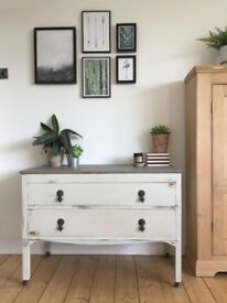 Up-cycled drawers with original features