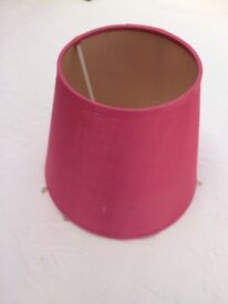 Fuschia Pink small round lampshade with beading