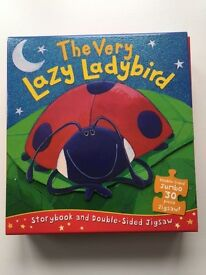 The Very Lazy Ladybird Book and Double Sided Jigsaw (as new)