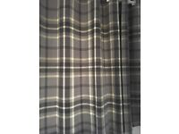 Grey Check Curtains - Dunelm Mill