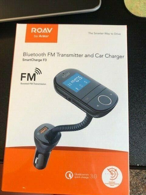 Anker ROAV - SmartCharge F3 FM Transmitter - Black