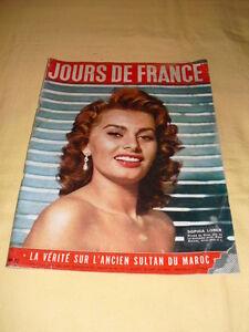 JOURS DE FRANCE N°42 Août 1955 Sophia Loren - France - État : Etat correct : Livre présentant des marques d'usure apparentes. La couverture peut tre légrement endommagée, mais son intégrité est intacte. La reliure peut tre légrement endommagée, mais son intégrité est intacte. Existence poss - France