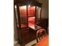 Cherry Dining Room Display Cabinet for sale (John E Coyle)
