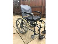 Shower wheelchair/commode - self propelled