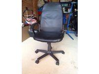 Black Home Office Swivel Desk Chair
