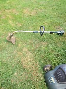 Electric Lawnmower and battery powered whipper snipper.
