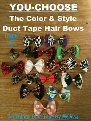 Women's Duct Tape Hair Bows with Alligator Clip  ()