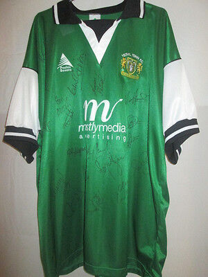 Yeovil Town 2000-2001 Squad Signed Home Football Shirt with COA /5471 image