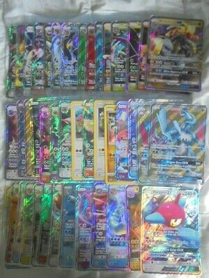 Pokemon HUGE lot of 42 DIFFERENT GX Jumbo Cards Sun and Moon Era BRAND NEW Holo