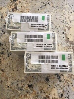 1000   2 Brand New Uncirculated  2 Two Dollar Bills Chicago  Bep Bundle   Rare