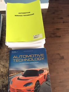 Auto Service Technician Textbooks and all modules from 2016