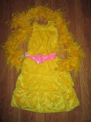 Girls SESAME STREET BIG BIRD Halloween Costume sz 10 -12 (Sesame Street Big Bird Halloween Costume)