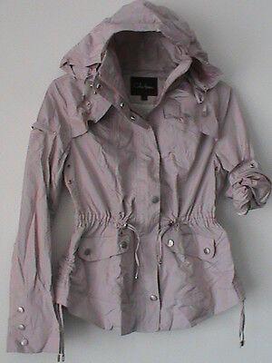 COLE HAAN authentic NWOT ladies XS pale pink rose zip jacket hooded rain coat   - Authentic Pink Ladies Jacket