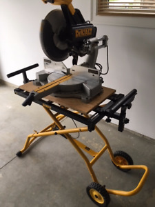 "12"" dewalt compound sliding saw & stand"