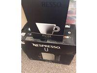 BRAND NEW Nespresso Krups Coffee Machine + 4 coffee cups