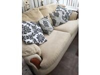 3 seater sofa and chair - very solid heavy comfortable quality items
