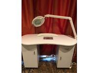 Nail/ Beauty Spa Bundle Incl. Manicure Table/Desk & Pedicure Spa Chair
