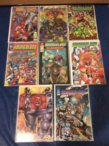 8 YOUNGBLOOD COMIC BOOKS MINT CONDITION MANY 1ST EDITIONS