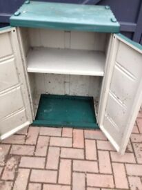 Outdoor storage cupboard