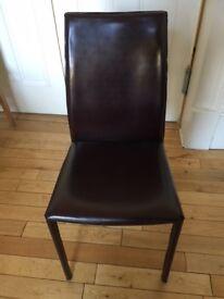 Brand new Heals Buffalo Side Chair - Dark Brown