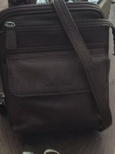 Fossil Brown Leather Crossbody