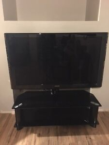 """52"""" LCD 1080P Samsung TV and stand"""
