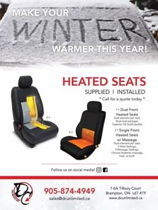 Heated Seats - Professional Installation (Supplied/Installed)