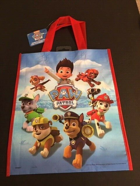 "Large Plastic PAW Patrol Goodie Bag, 13"" x 11"""