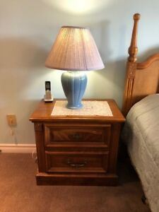 Solid Wood Mahogany Bedroom Set (5 Pieces)