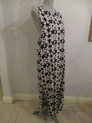 NWT MIRROR IMAGE LARGE BLACK & WHITE FLORAL PRINT T-BACK MAXI DRESS W/SIDE SLITS Floral Mirror