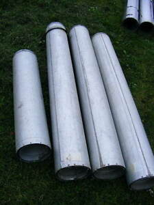 3 pc. 60 inches  , 1 pc 36 inches x 7 inch flue size