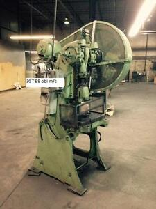 30 ton Brown and Boggs OBI punch press,mech. clutch.