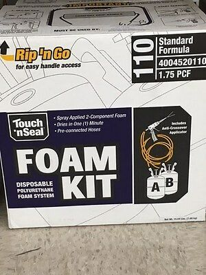 Touch N Seal U2-110 Spray Closed Cell Foam Insulation Kit 110 Bf