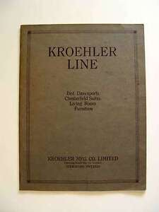 1922 Kroehler Dealer Catalogue & 1923 Price List