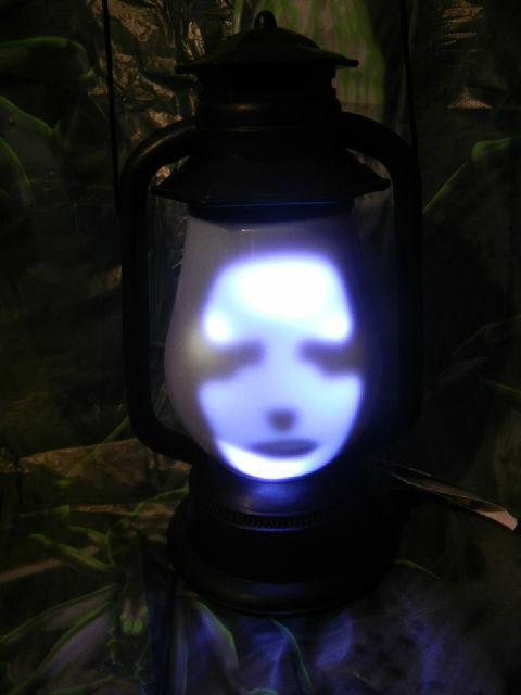ANIMATED HAUNTED GRAVEYARD LANTERN FACE * LED LIGHTED / TALKING HALLOWEEN PROP