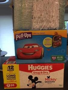 Brand new Huggies & Pampers Diapers/pullups Size 5 & 6 on sale