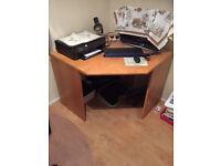 Wooden Corner table/desk