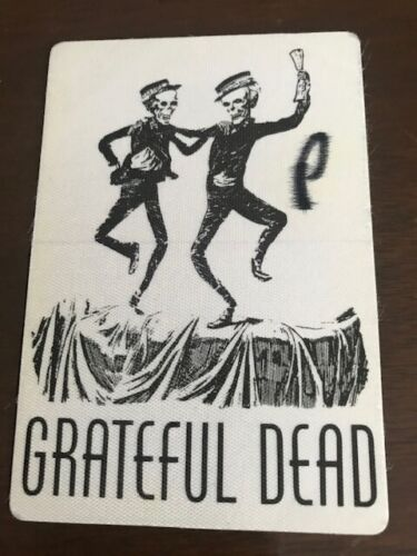 Grateful Dead 1994  backstage pass satin - Spectrum in Philly -letter P on front