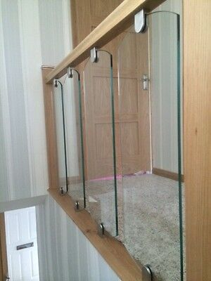 10mm Glass Decking Spindle Panel Railing Infills. Staircase Toughened Glazing