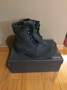 THE   NEW MEN'S SUEDE BLACK BOOTS BY ''' KENNETH COLE '' FOR SAL
