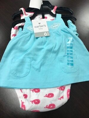 NWT Carters Baby 3 Piece Diaper Cover Set (Blue, 6M)