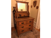 Solid wood chest of drawers and dresser